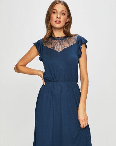 Платье с поясом из вискозы на резинке Only