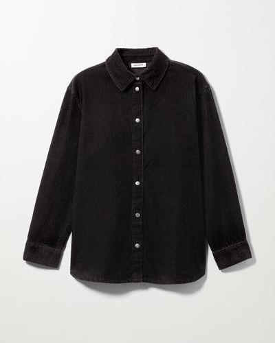 Рубашка вельветовая - черная Weekday