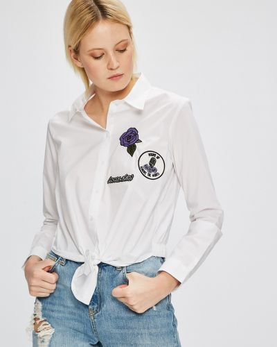 Блузка однотонная белая Sh