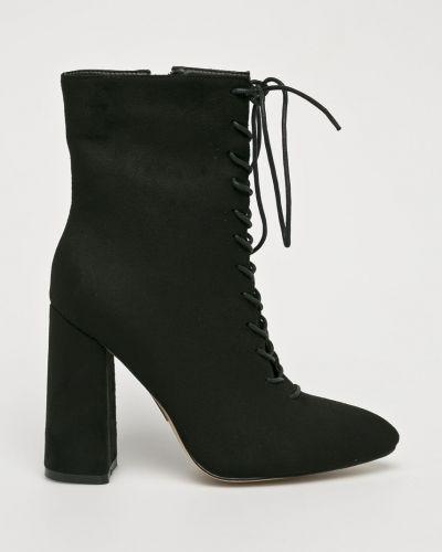Сапоги на шнуровке на каблуке Public Desire