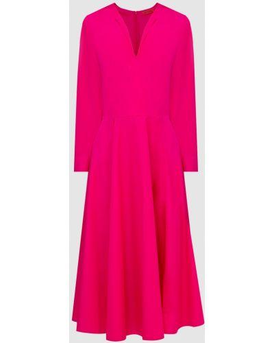 Платье миди с V-образным вырезом - розовое Max & Co