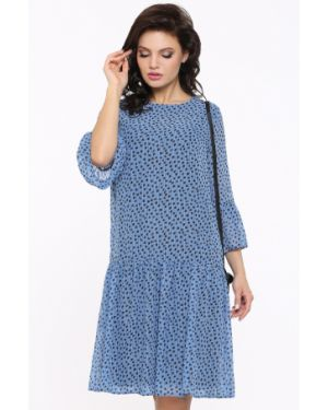 Шифоновое вечернее платье с капюшоном с оборками свободного кроя Dstrend