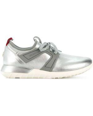 Кожаные кроссовки Moncler