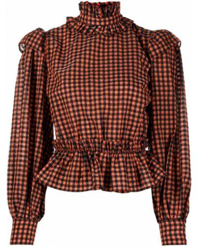 Длинная рубашка - оранжевая Ganni