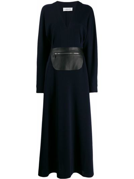 Платье макси футляр с V-образным вырезом Lanvin