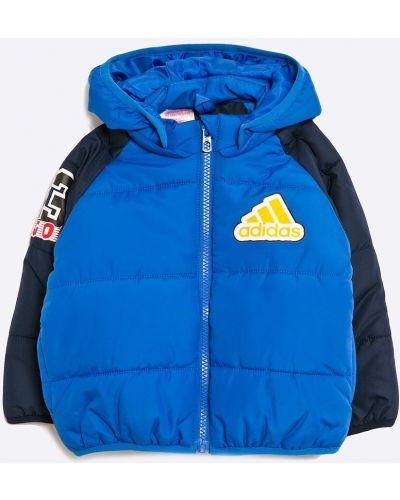 Куртка теплая синий Adidas Performance