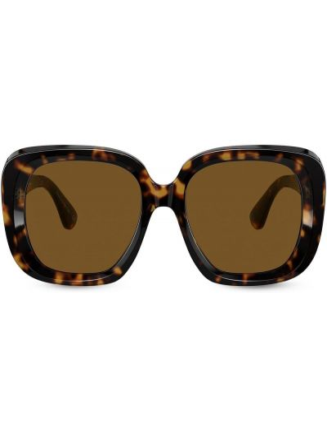 Солнцезащитные очки оверсайз - коричневые Oliver Peoples