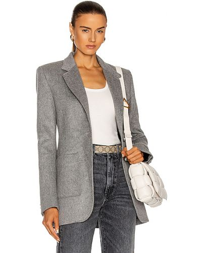 Трикотажный серый пиджак для полных Paco Rabanne