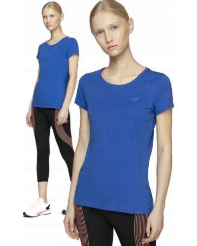 Bawełna niebieski bawełna t-shirt 4f