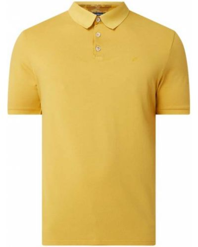 Żółty t-shirt bawełniany Daniel Hechter