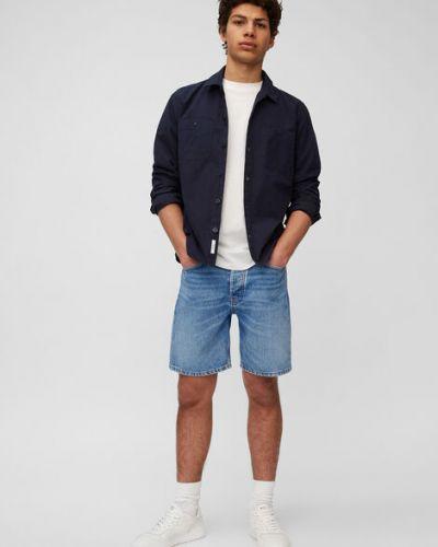 Niebieskie szorty jeansowe bawełniane Marc O Polo