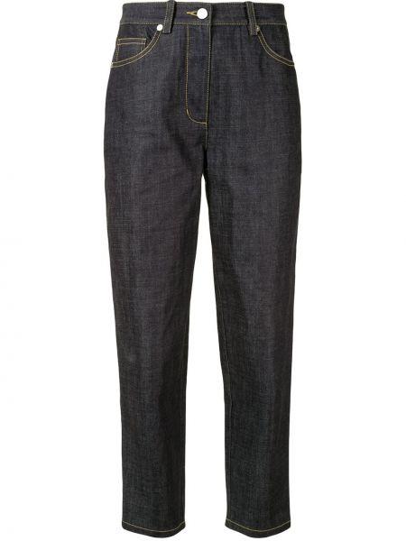 Bawełna bawełna spodni niebieski spodnie-banany 3.1 Phillip Lim
