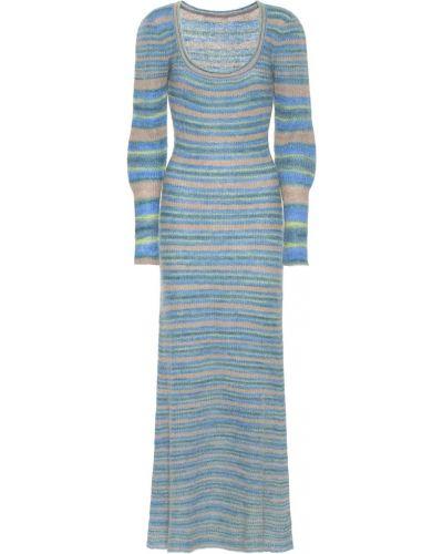 Платье миди вязаное синее Jacquemus
