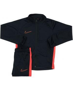 Czarny dres z nylonu z raglanowymi rękawami Nike