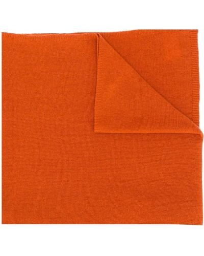 Вязаный оранжевый кашемировый шарф вязаный в рубчик Liska
