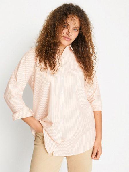 Блузка с длинным рукавом весенний бежевый Violeta By Mango
