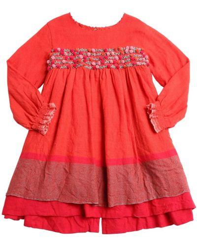 Деловое платье макси на пуговицах с вырезом Péro