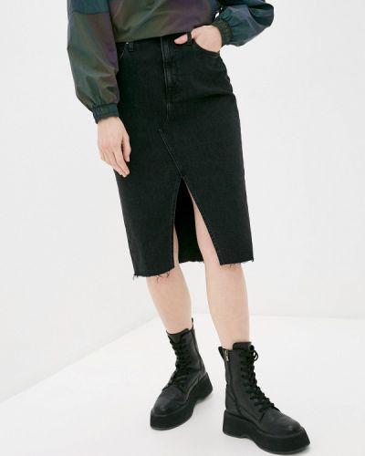 Черная джинсовая юбка Calvin Klein Jeans