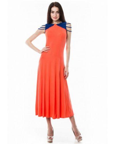 Оранжевое вязаное платье Vergans