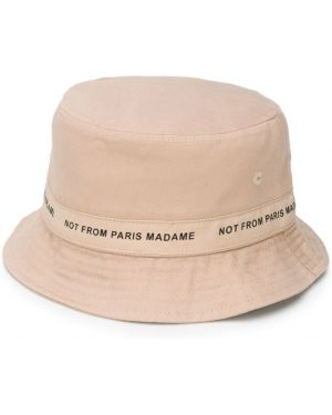 Beżowy kapelusz bawełniany Drole De Monsieur