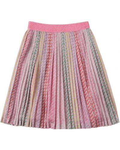 Плиссированная юбка эластичная с люрексом Little Marc Jacobs