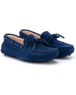 Мокасины синие Baby Dior