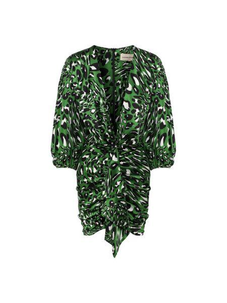 Платье мини леопардовое каскадное Alexandre Vauthier