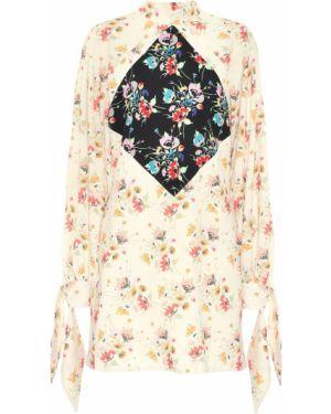 Платье мини с завышенной талией с цветочным принтом Christopher Kane