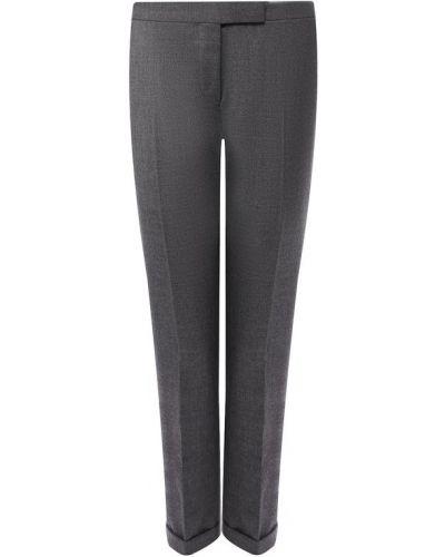 Укороченные брюки со стрелками шерстяные Thom Browne