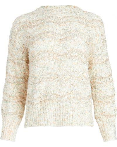 Акриловый белый длинный свитер с длинными рукавами Minkpink