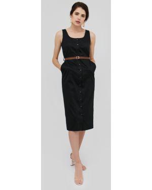 Приталенное платье миди эластичное Cardo