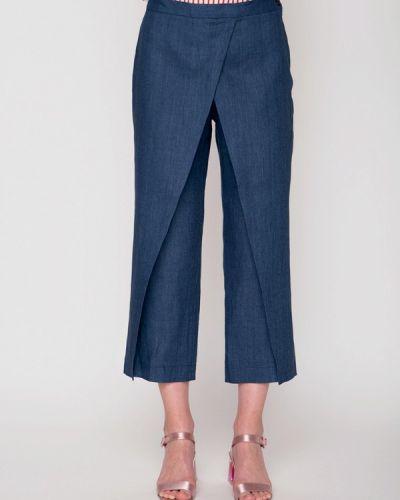Синие брюки расклешенные Garmoniya