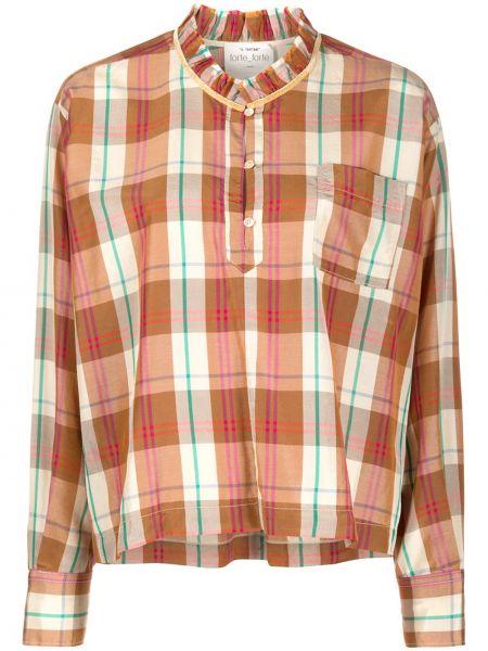 Шелковая рубашка в клетку с манжетами Forte Forte