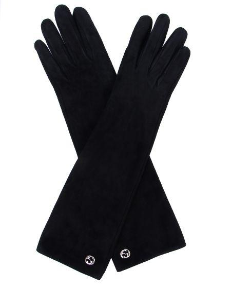 Черные классические шелковые перчатки длинные Gucci