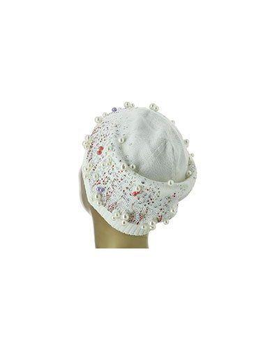 Белая шапка Blumarine