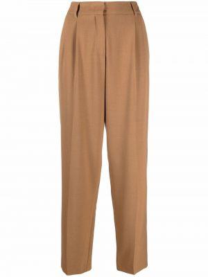 Beżowe spodnie z wiskozy Blanca Vita