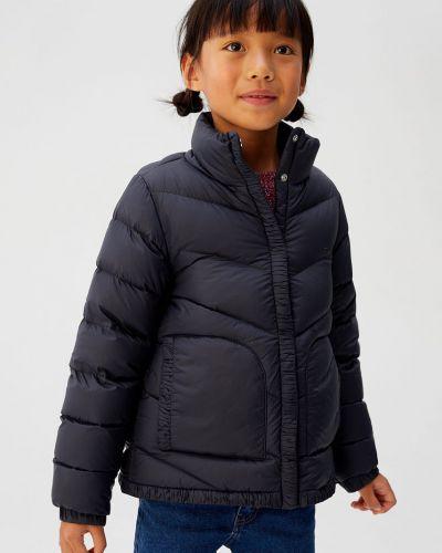Куртка стеганая с перьями Mango Kids