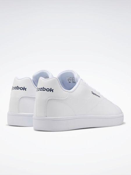 Теннисные кожаные белые низкие кеды Reebok