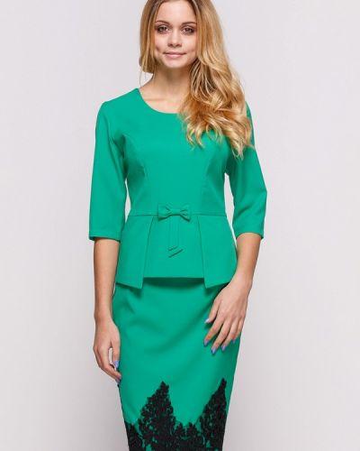 Юбочный костюм зеленый Zubrytskaya