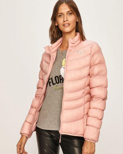 Розовая нейлоновая стеганая куртка с запахом Puma