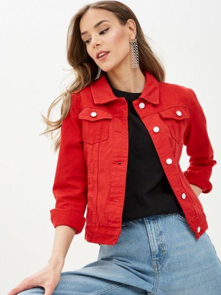 Красная джинсовая куртка Moon River