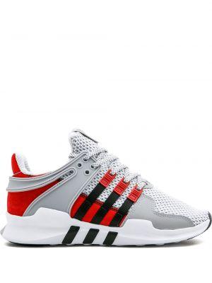 Белые кроссовки на шнуровке с сеткой Adidas