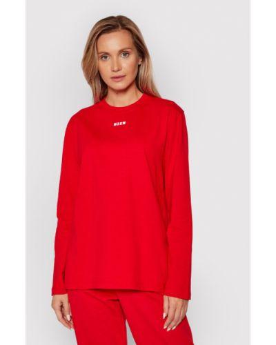 Czerwona bluzka Msgm