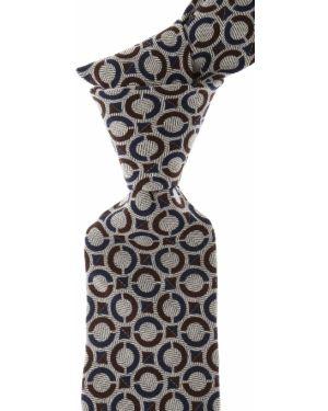 Brązowy krawat z jedwabiu Borrelli
