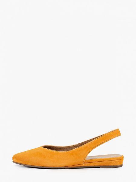 Кожаные туфли с открытой пяткой оранжевый Tamaris