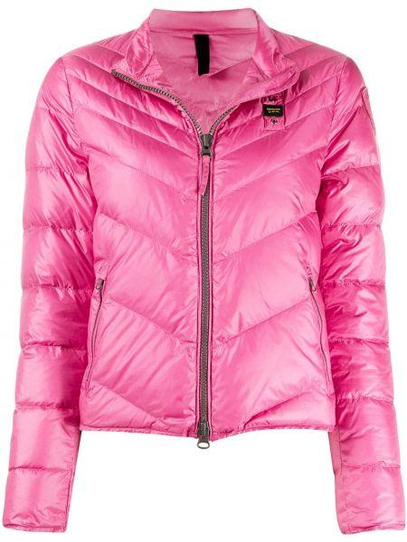 Прямая розовая облегченная длинная куртка с воротником Blauer