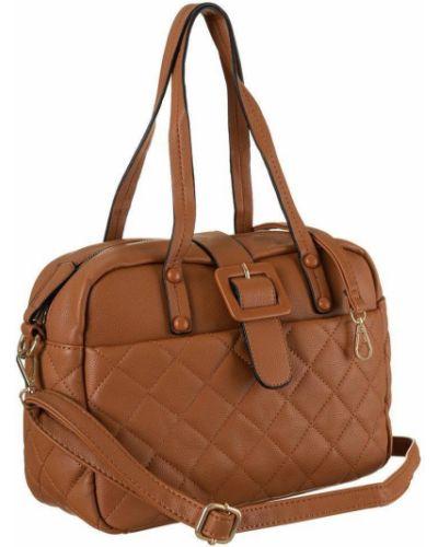 Brązowa torebka z paskiem Rovicky