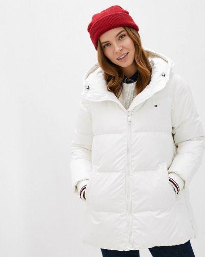 Белая теплая зимняя куртка Tommy Hilfiger