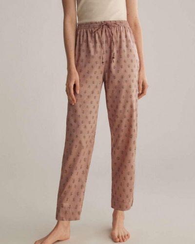 Розовые домашние брюки Oysho