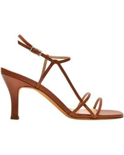 Sandały - brązowe Maryam Nassir Zadeh